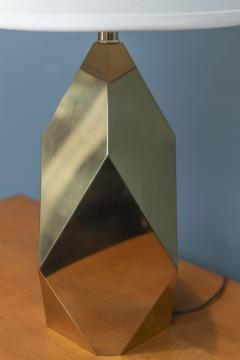 Chapman Mfg Co Mid Century Modern Brass Faceted Lamp - 2054568