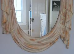 Chapman Mfg Co NeoClassical 1960s Draped Carved Wood Mirror by Chapman - 570779