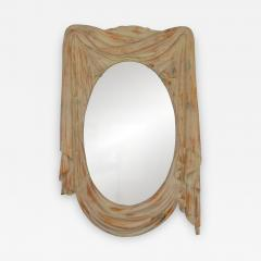 Chapman Mfg Co NeoClassical 1960s Draped Carved Wood Mirror by Chapman - 571626
