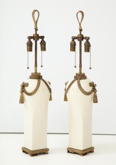 Chapman Mfg Co Stunning Pair of Art Deco Style Ceramic Lamps - 1137386
