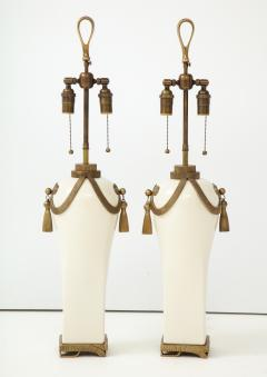 Chapman Mfg Co Stunning Pair of Art Deco Style Ceramic Lamps - 1137387