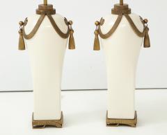 Chapman Mfg Co Stunning Pair of Art Deco Style Ceramic Lamps - 1137388
