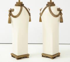 Chapman Mfg Co Stunning Pair of Art Deco Style Ceramic Lamps - 1137389