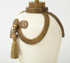 Chapman Mfg Co Stunning Pair of Art Deco Style Ceramic Lamps - 1137392