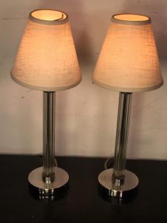 Chase Brass and Copper Company SUITE OF THREE PAIRS OF ART DECO LAMPS PRICED PER PAIR - 766018