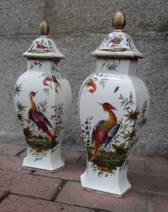 Chelsea A pair of signed porcelain vases by Chelsea England XIIIth century - 763959
