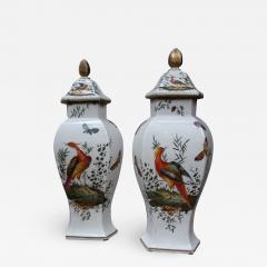 Chelsea A pair of signed porcelain vases by Chelsea England XIIIth century - 770511