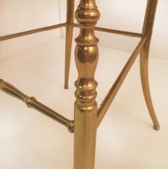 Chiavari Pair of Italian Massive Brass Chairs by Chiavari Upholstery Iceland Wol - 1170728