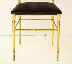 Chiavari Suite of four solid brass Chiavari chairs Italy 1970s - 1041568