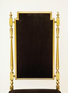 Chiavari Suite of four solid brass Chiavari chairs Italy 1970s - 1041573
