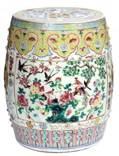 Chinese Porcelain 19th Century Chinese Export Porcelain Garden Seats A Pair - 1847460