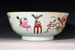 Chinese Porcelain Chinese Export Famille Rose Porcelain Bowl with Chinese Furniture - 1618567