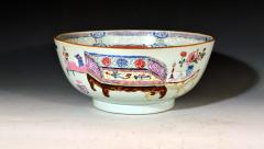 Chinese Porcelain Chinese Export Famille Rose Porcelain Bowl with Chinese Furniture - 1618569