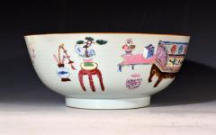 Chinese Porcelain Chinese Export Famille Rose Porcelain Bowl with Chinese Furniture - 1618572