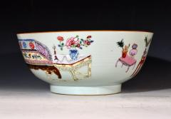 Chinese Porcelain Chinese Export Famille Rose Porcelain Bowl with Chinese Furniture - 1618573