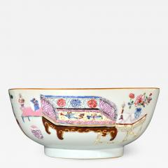 Chinese Porcelain Chinese Export Famille Rose Porcelain Bowl with Chinese Furniture - 1620645