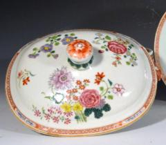 Chinese Porcelain Chinese Export Famille Rose Porcelain Tureen Cover Stand - 1618616