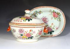 Chinese Porcelain Chinese Export Famille Rose Porcelain Tureen Cover Stand - 1618618