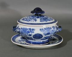 Chinese Porcelain Chinese Export Porcelain Blue Fitzhugh Sauce Tureens Covers Stands - 1618552