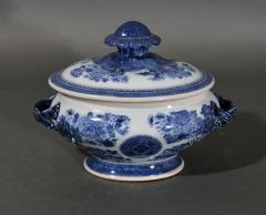 Chinese Porcelain Chinese Export Porcelain Blue Fitzhugh Sauce Tureens Covers Stands - 1618554