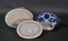 Chinese Porcelain Chinese Export Porcelain Blue Fitzhugh Sauce Tureens Covers Stands - 1618555