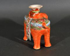 Chinese Porcelain Chinese Export Porcelain Canton Famille Rose Elephant Candlestick - 1618541