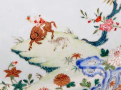 Chinese Porcelain Chinese Export Porcelain Famille Rose Dish with Boy on Water Buffalo - 1618633