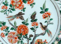 Chinese Porcelain Chinese Export Porcelain Famille Verte Gadrooned Edge Dish Kangxi Period - 1618604