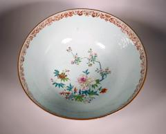 Chinese Porcelain Chinese Export Porcelain Large Bowl with Mazarine Blue Gilt Ground - 1618504
