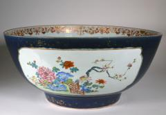 Chinese Porcelain Chinese Export Porcelain Large Bowl with Mazarine Blue Gilt Ground - 1618505