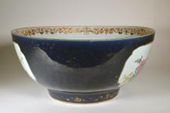 Chinese Porcelain Chinese Export Porcelain Large Bowl with Mazarine Blue Gilt Ground - 1618506