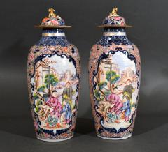 Chinese Porcelain Chinese Export Porcelain Mandarin Vases Covers - 1618546