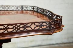 Chippendale Style Georgian Padouk Fretwork Tea Table - 1788964