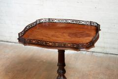 Chippendale Style Georgian Padouk Fretwork Tea Table - 1788965