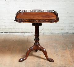 Chippendale Style Georgian Padouk Fretwork Tea Table - 1788967