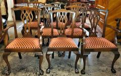 Chippendale Style Late 19th Century English Mahogany Chippendale Style Dining Chairs - 1713585