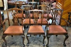 Chippendale Style Late 19th Century English Mahogany Chippendale Style Dining Chairs - 1713586