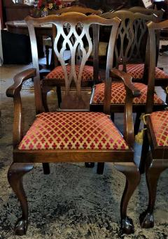 Chippendale Style Late 19th Century English Mahogany Chippendale Style Dining Chairs - 1713587