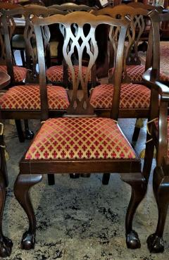 Chippendale Style Late 19th Century English Mahogany Chippendale Style Dining Chairs - 1713588