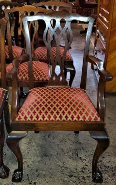 Chippendale Style Late 19th Century English Mahogany Chippendale Style Dining Chairs - 1713589