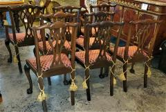Chippendale Style Late 19th Century English Mahogany Chippendale Style Dining Chairs - 1713591