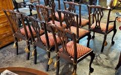Chippendale Style Late 19th Century English Mahogany Chippendale Style Dining Chairs - 1713593