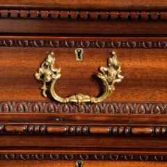 Chippendale Style Late mahogany Chippendale style pedestal desk - 1908805