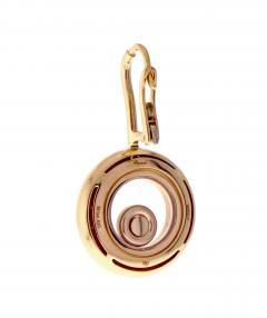 Chopard Chopard Happy Diamond Rose Gold Drop Dangle Diamond Earrings - 529452