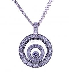 Chopard Chopard Happy Spirit Diamond Double Circle Pendant Necklace - 1018279