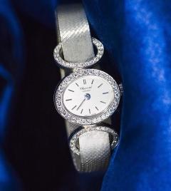 Chopard Elegant 1970s Chopard 18 Karat Gold Diamond Set Bracelet Wristwatch - 1191109