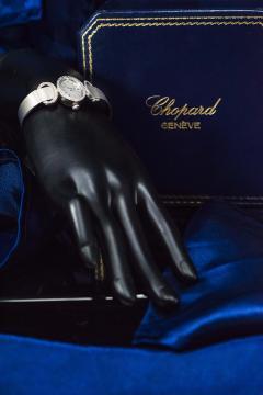 Chopard Elegant 1970s Chopard 18 Karat Gold Diamond Set Bracelet Wristwatch - 1191113