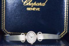 Chopard Elegant 1970s Chopard 18 Karat Gold Diamond Set Bracelet Wristwatch - 1191116