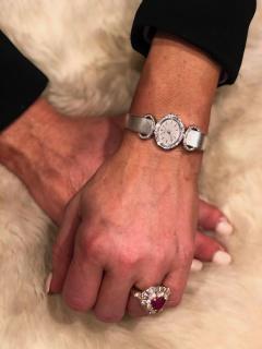 Chopard Elegant 1970s Chopard 18 Karat Gold Diamond Set Bracelet Wristwatch - 1191118