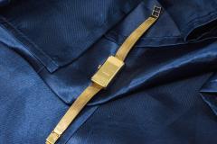 Chopard Rare Chopard Kutchinsky 1970s 18kt YG Lapis Pave Diamond Set Dial Wristwatch - 434889
